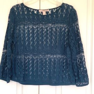 Forever 21 Green Lace Blouse